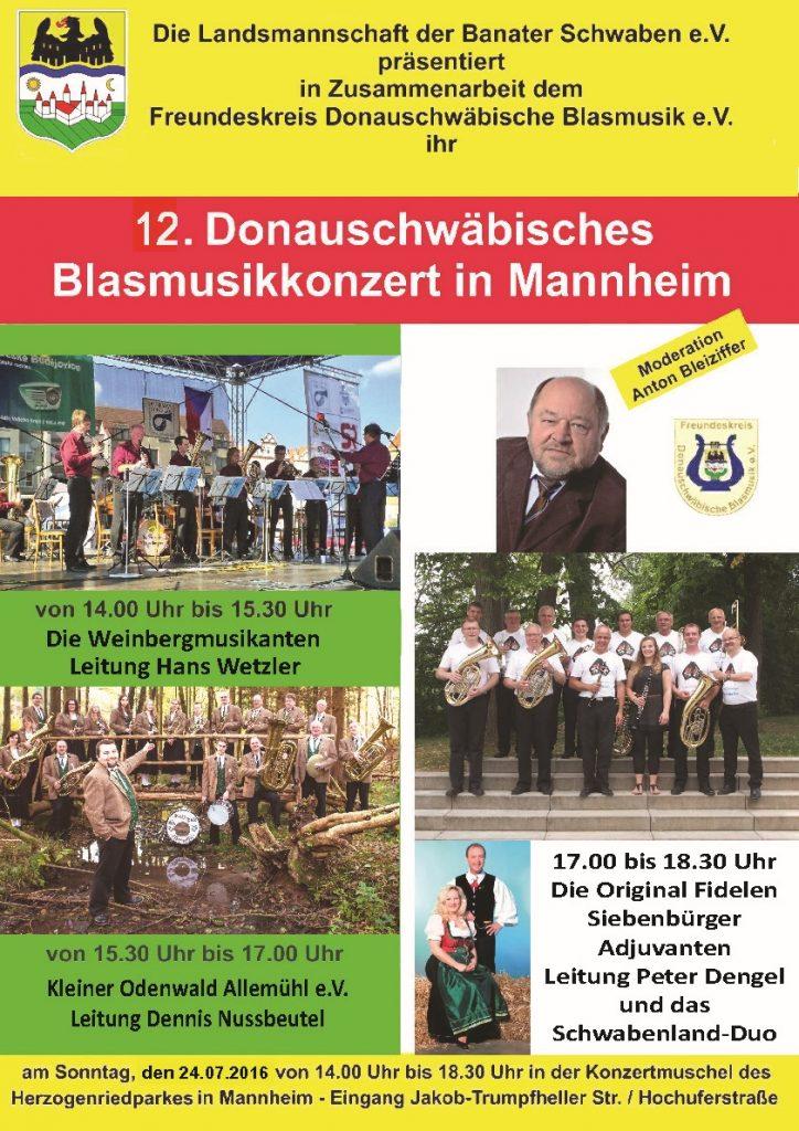 Blasmusikkonzert in Mannheim 2016